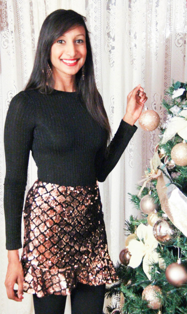 Nothing Says Holiday Style Like A Little Bling I Found This Cute Sequin Mini Skirt At Forever 21 And Im Just Thrilled About It Is Perfect For