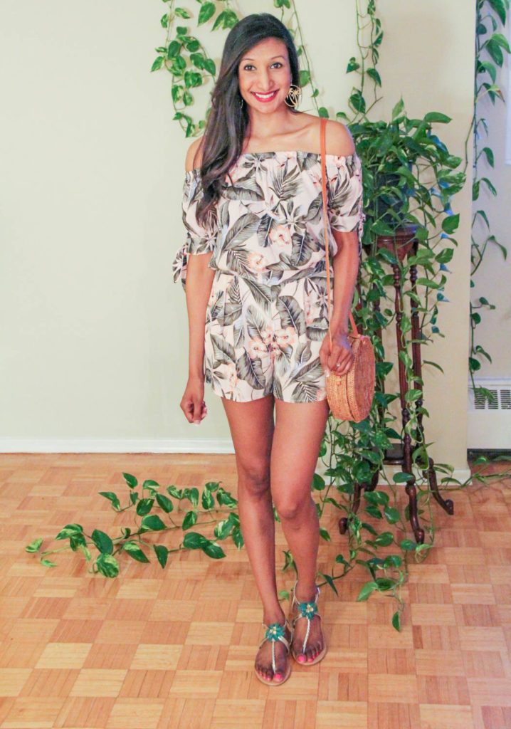 tropical floral set