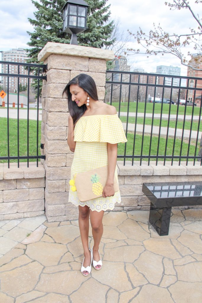 yellow gingham dress